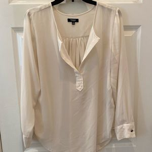 V Neck Long Sleeved Blouse